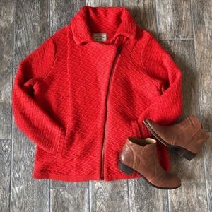 Lucky Brand Asymmetrical Zip Cardigan Sweater